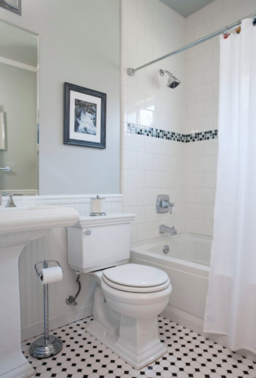 X White Bathroom Tile Ideas And Pictures - 4x4 bathroom tile designs