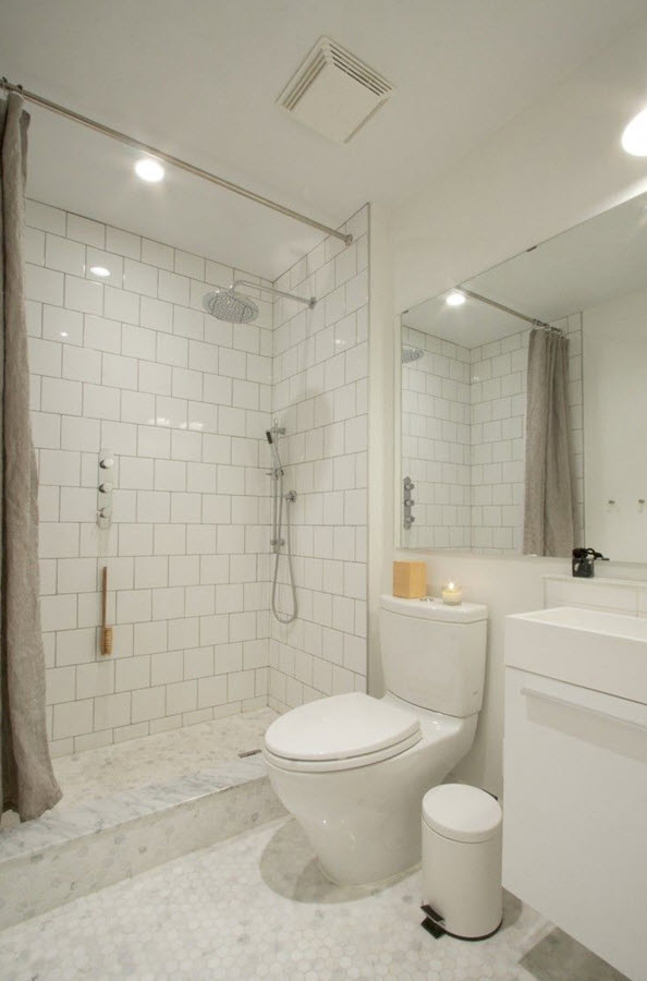 28 6x6 white bathroom tiles ideas and pictures for 6x6 room design