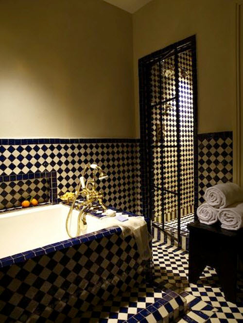 31 black and gold bathroom tiles ideas and pictures 2020