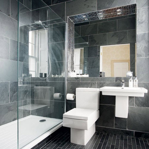 30 black and grey bathroom tiles ideas and pictures for Great looking bathrooms