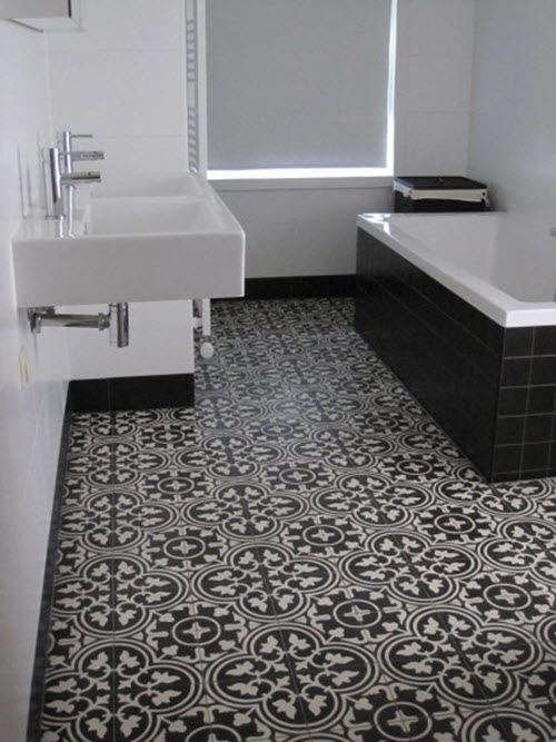 black and white bathroom tile 40 black and white bathroom floor tile ideas and pictures 31615