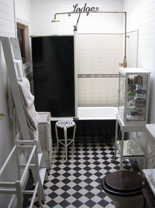 Black And White Bathroom Floor Tile 14 16 17