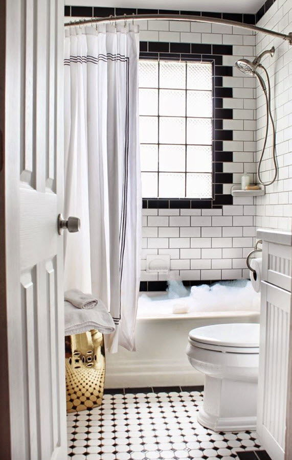 black and white bathroom tile 33 black and white bathroom tile ideas and pictures 31615