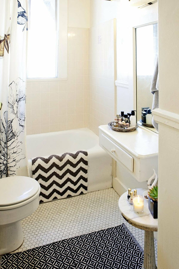 30 Black And White Bathroom Tiles In A Small