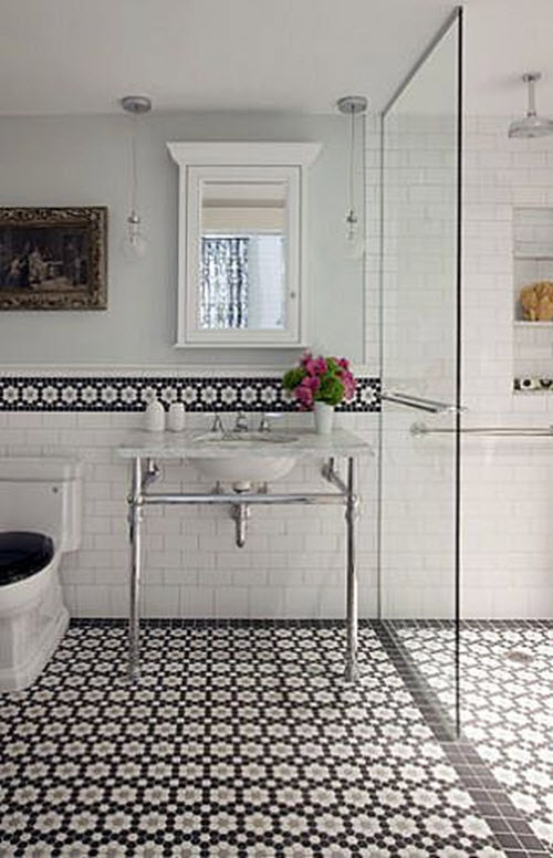 Book Of Bathroom Tiles Ideas Black And White In Germany By Isabella