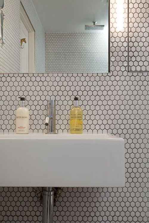 black_and_white_hexagon_bathroom_tile_18.  black_and_white_hexagon_bathroom_tile_19.  black_and_white_hexagon_bathroom_tile_23