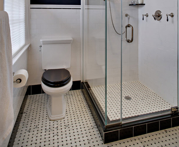 Book Of Bathroom Floor Tiles Black And White In Uk By