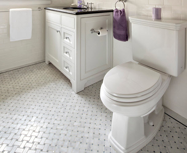 Black And White Marble Bathroom Floor Tiles 22 24 25