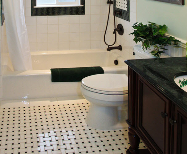 Black Marble Floor Tiles Bathroom Creative White Black Marble