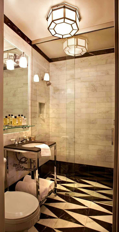 31 Black And White Marble Bathroom Tiles Ideas And