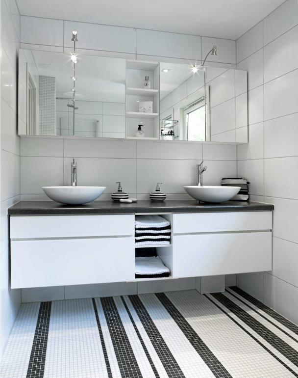 37 black and white mosaic bathroom floor tile ideas and ...