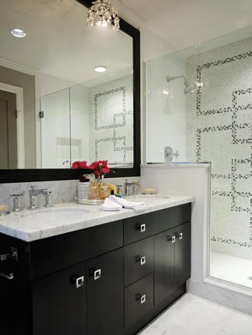 25 Black And White Mosaic Bathroom Tile Ideas And Pictures