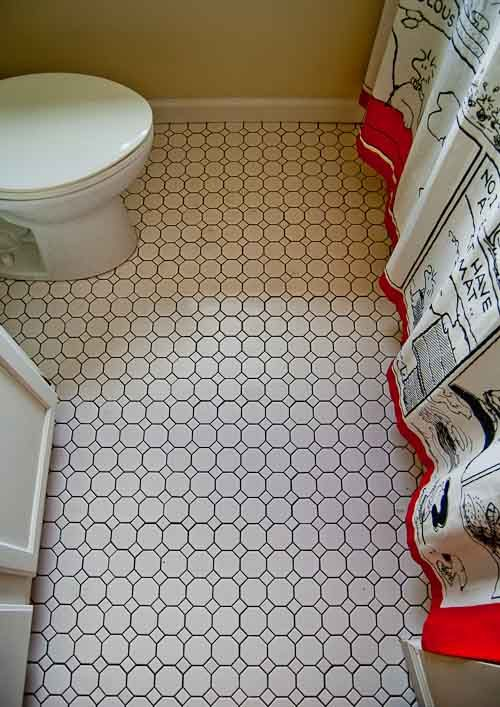 23 black and white octagon bathroom floor tile ideas and pictures. Black Bedroom Furniture Sets. Home Design Ideas