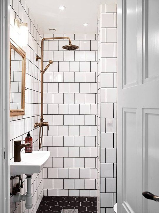 36 black and white shower tile ideas and pictures 2020