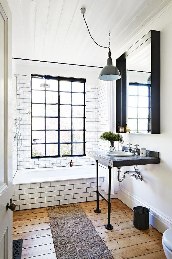 Black And White Subway Bathroom Tile Ideas And Pictures