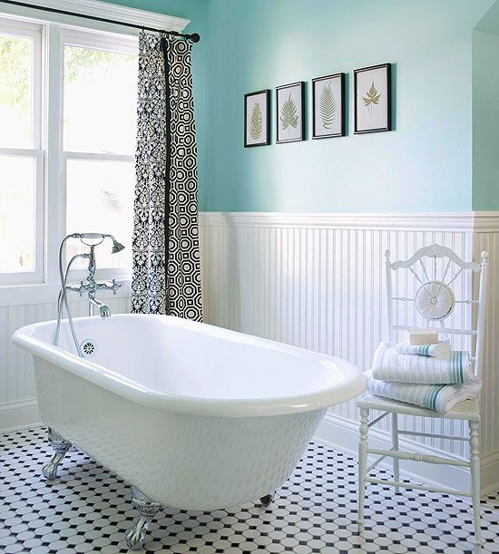 25 black and white victorian bathroom tiles ideas and pictures - Black and white bathrooms pictures ...