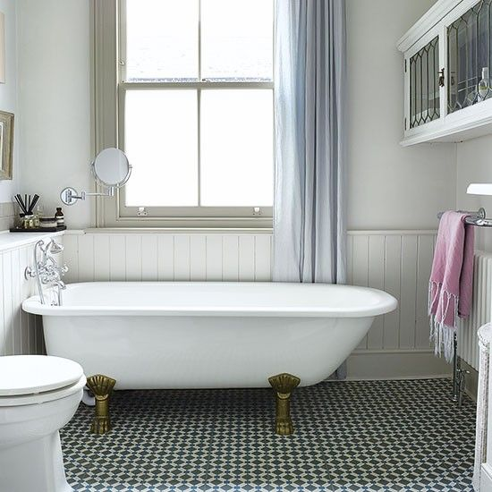 25 black and white victorian bathroom tiles ideas and pictures for Bathroom designs london