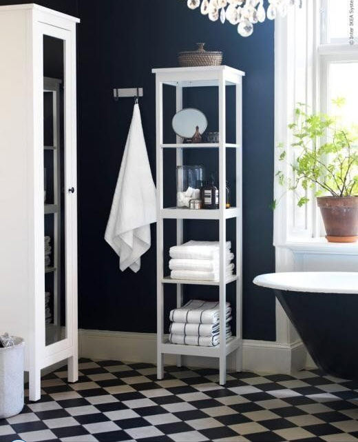 Black And White Vinyl Bathroom Floor Tiles : Black and white vinyl bathroom floor tiles ideas