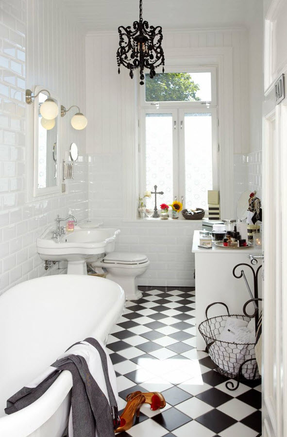 36 black and white vinyl bathroom floor tiles ideas and pictures - Black and white bathrooms pictures ...