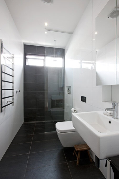 Perfect  Black Tile Bathrooms On Pinterest  Hex Tile Black Shower And Black