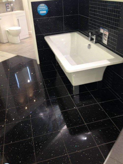 black glitter bathroom floor tiles 29 black bathroom tiles with glitter ideas and pictures 22768