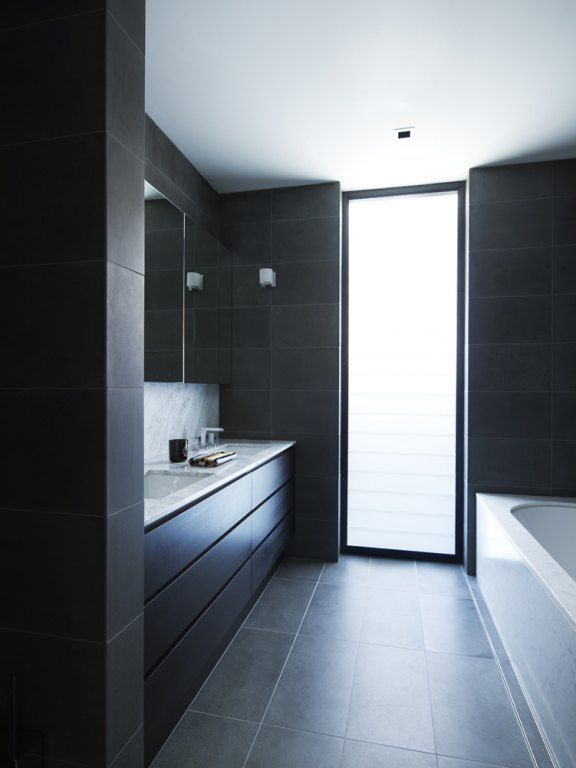 32 black bathroom wall tile ideas and pictures 2020