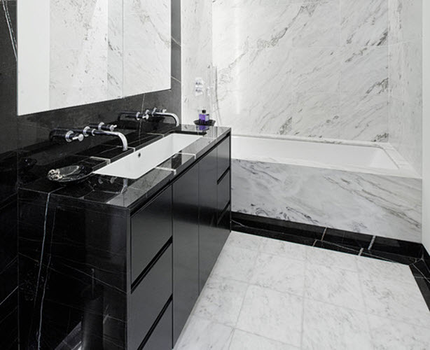 black and white marble bathrooms black marble bathroom tiles with original photo eyagci 22746