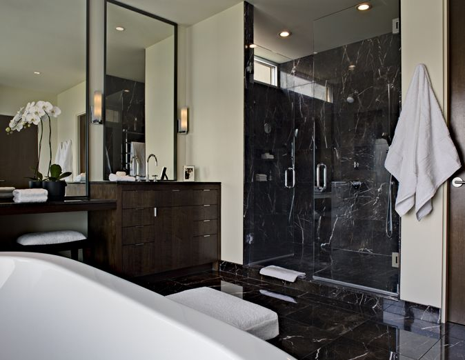black marble tile bathroom 30 black marble bathroom tiles ideas and pictures 17403