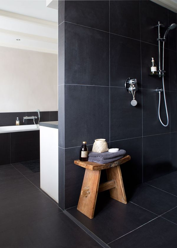 40 black slate bathroom tile ideas and pictures