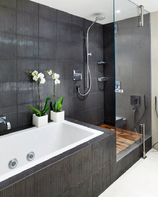 35 black slate bathroom wall tiles ideas and pictures 2020