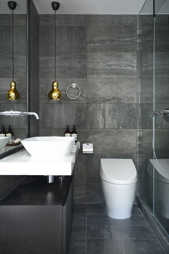 black slate tile bathroom 35 black slate bathroom wall tiles ideas and pictures 17417