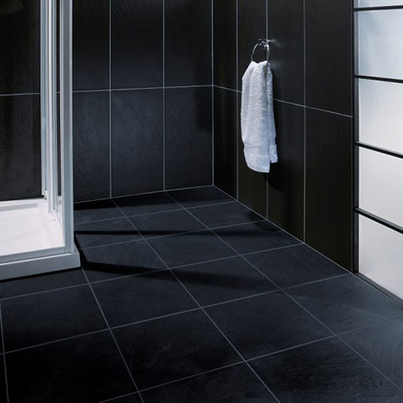 Bathroom Floor Tiles White Rectangular Bathroom Tiles Shiny Black