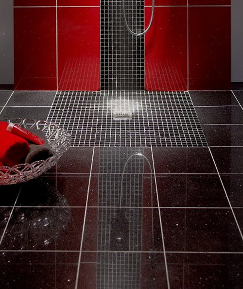 Sparkle floor tiles kitchen