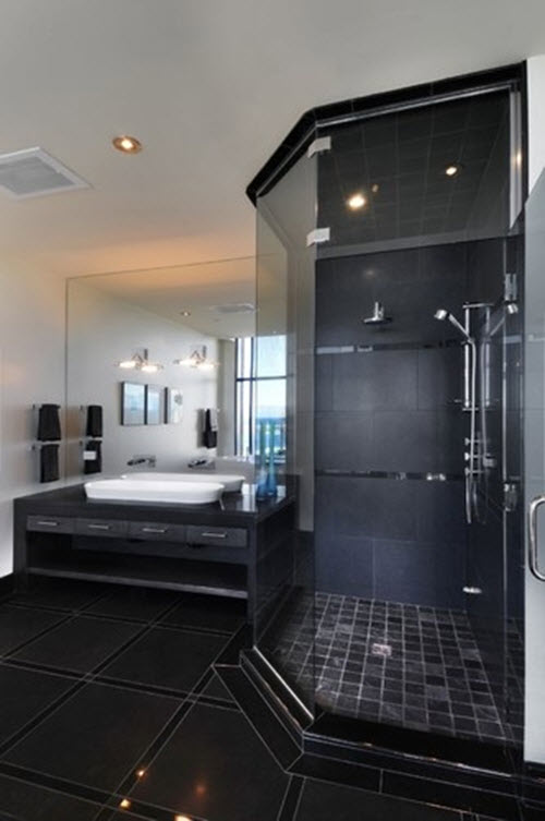 26 black sparkle bathroom tiles ideas and pictures