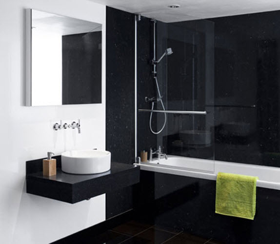 Luxury Black And White Bathroom Designs  Bathroom Ideas Amp Designs  HGTV