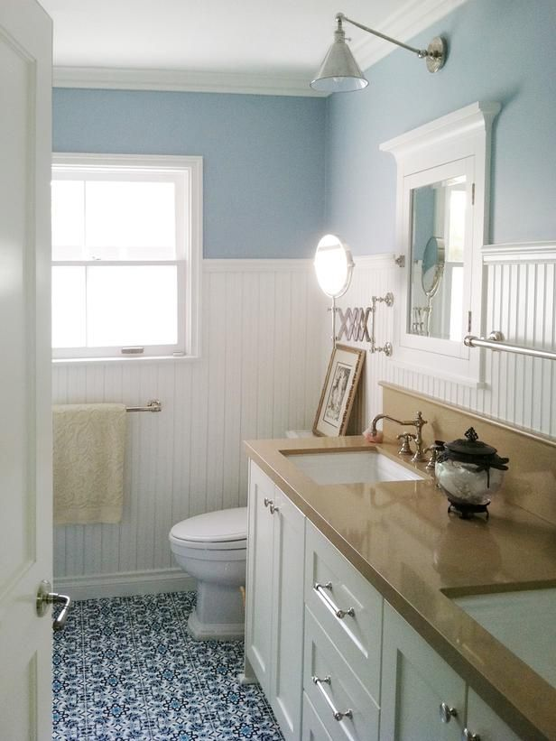 36 Blue And White Bathroom Floor Tile Ideas And Pictures 2019