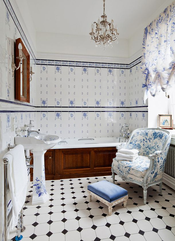 blue and white bathroom floor tiles 36 blue and white bathroom floor tile ideas and pictures 25165