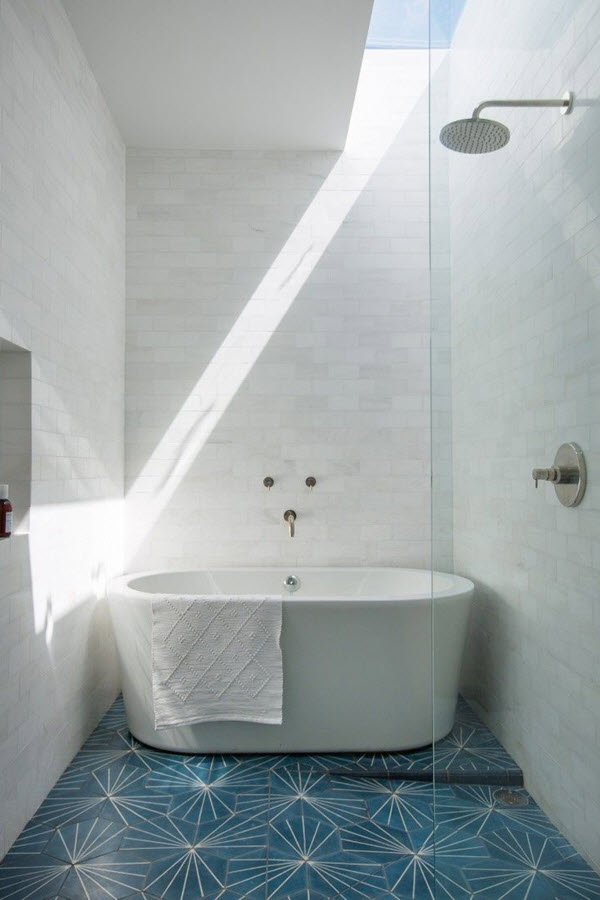 Lastest 36 Blue And White Bathroom Tile Ideas And Pictures