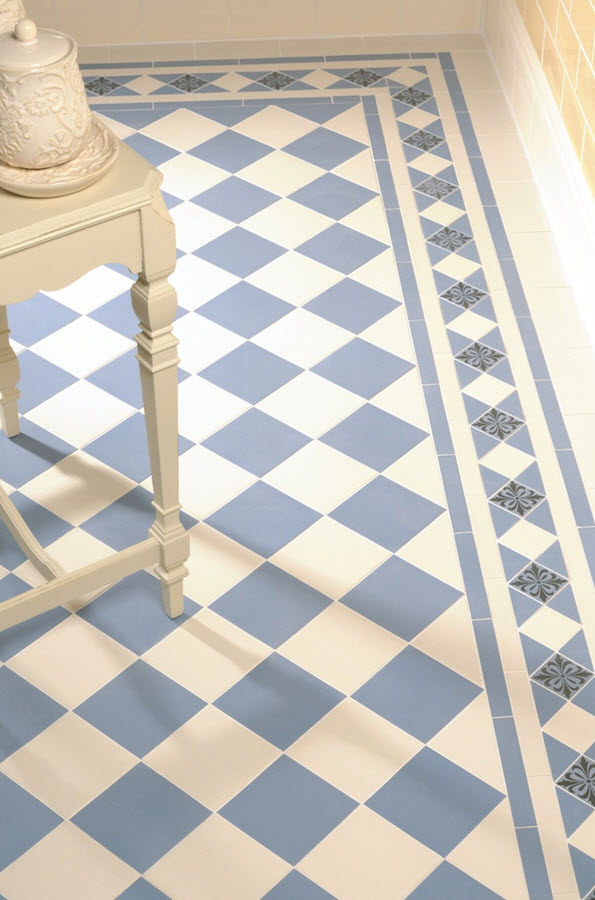 Bathroom Tile Ideas Blue And White