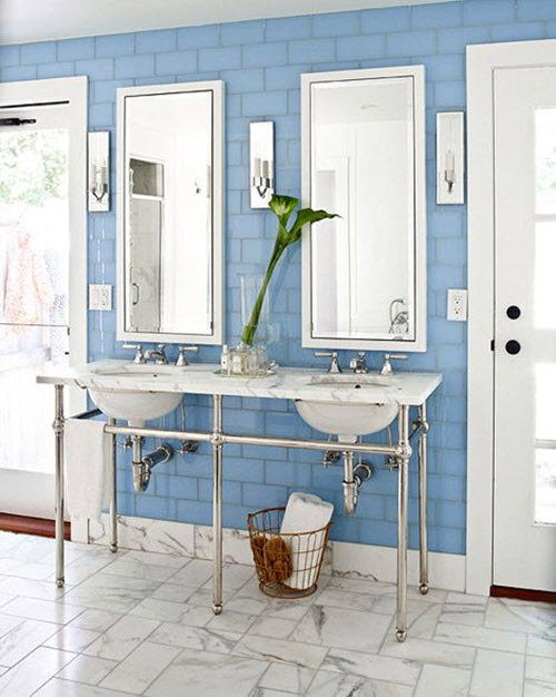 blue and white bathrooms 36 blue and white bathroom tile ideas and pictures 17446