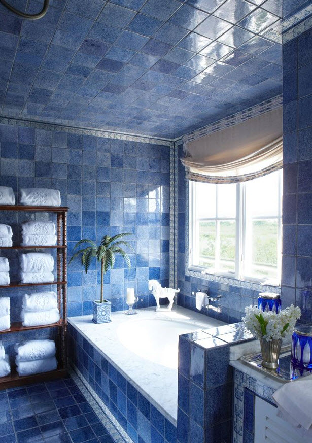 36 blue and white bathroom tile ideas and pictures 2020