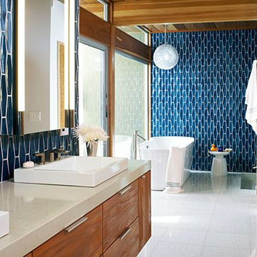 Beautiful Great Idea Is To Pay Attention To Placement A Beautiful Teal Tile