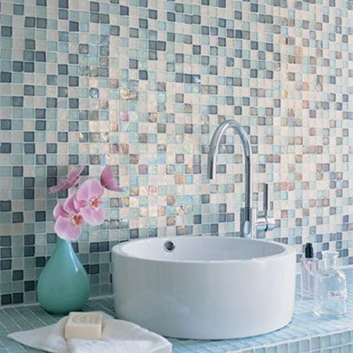 Wonderful My Own Bathroom Which You Can See Here Is Serene With White Walls, Wood And Brown Colored Floor Tiles But If I Wanted To Add Some Color To A Bathroom I Would Definitely Go For Blue Or Sea Green Tiles I Love The Turquoise Colored Tiles In