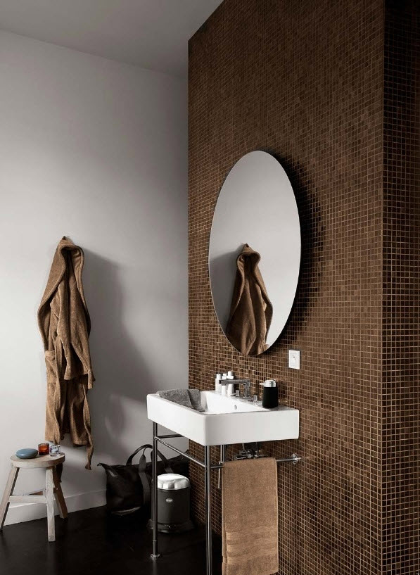 Simple 26 Brown And White Bathroom Tiles Ideas And Pictures