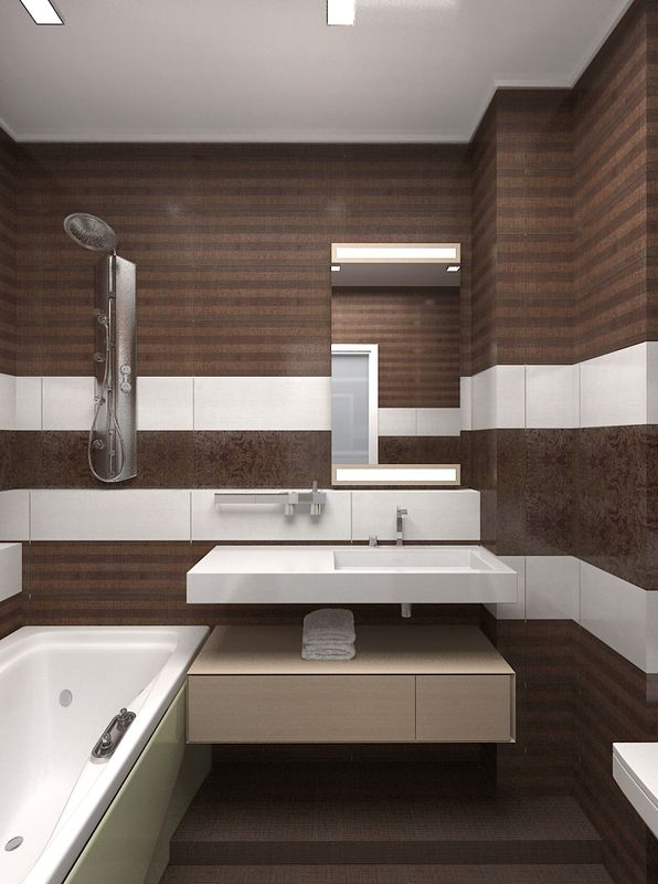 Bathroom Tiles Brown And White With Elegant Inspirational