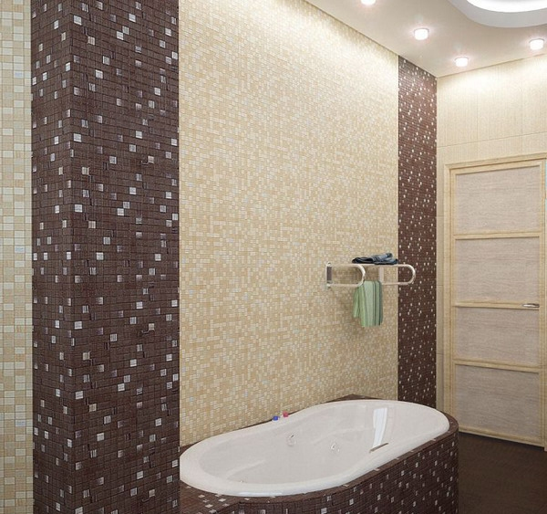 Fantastic 26 Brown And White Bathroom Tiles Ideas And Pictures