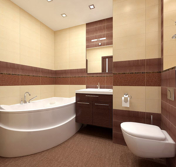 Bathroom Tiles Brown 26 brown and white bathroom tiles ideas and pictures