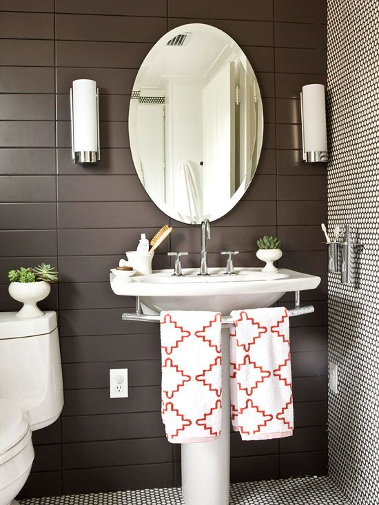 26 Brown And White Bathroom Tiles Ideas And Pictures 2019