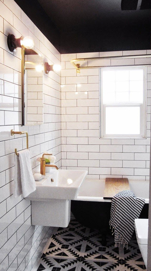 25 Classic Black And White Bathroom Tile Ideas And Pictures