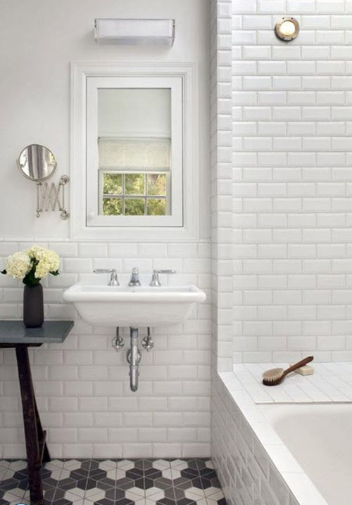 29 Gray And White Bathroom Tile Ideas And Pictures 2019